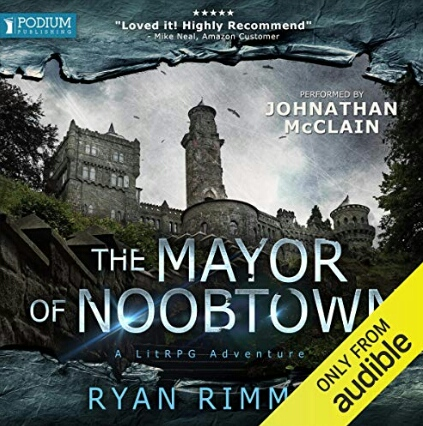 Audible book cover - The Mayor of Noobtown