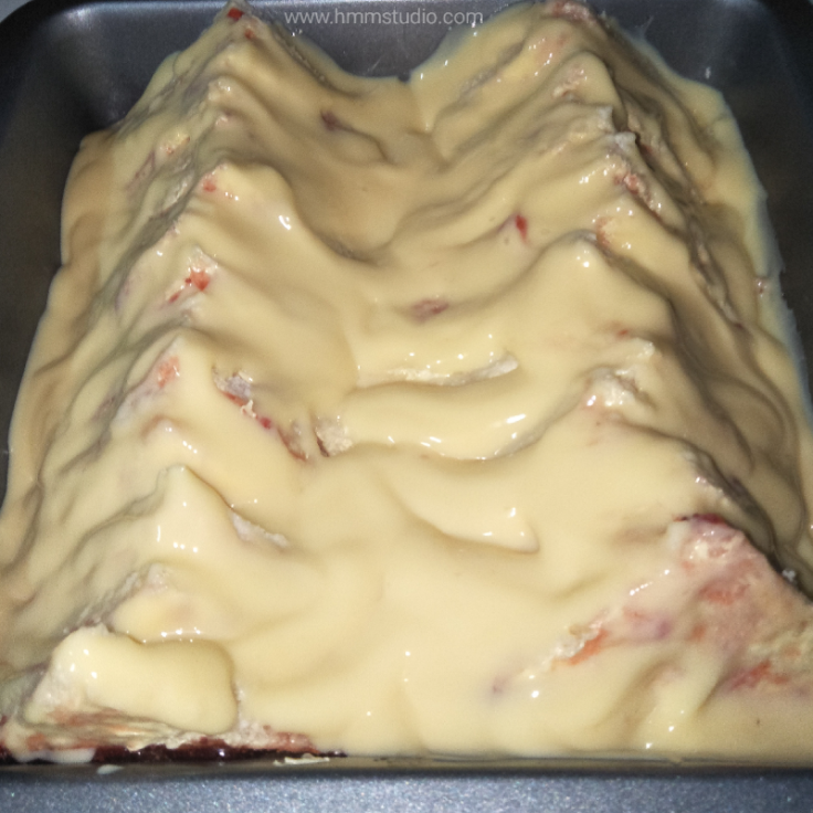 BreadBread and butter pudding in oven tray